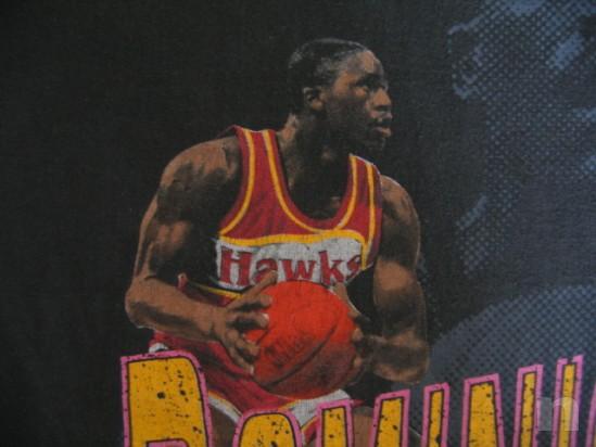 "T-Shirt Basket NBA Vintage ""DOMINIQUE WILKINS"" Atlanta Hawks - L foto-18277"