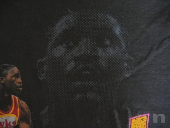 "T-Shirt Basket NBA Vintage ""DOMINIQUE WILKINS"" Atlanta Hawks - L foto-18276"