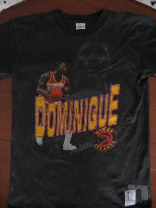 "T-Shirt Basket NBA Vintage ""DOMINIQUE WILKINS"" Atlanta Hawks - L foto-10016"