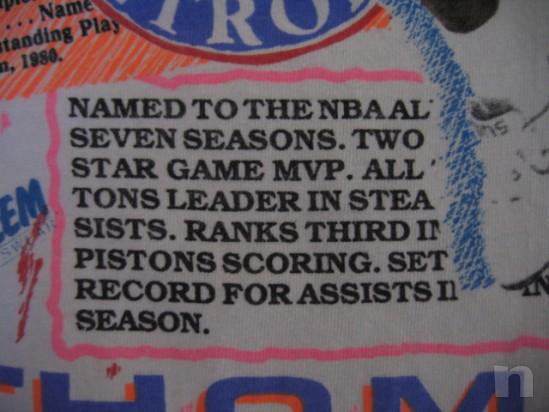 "T-Shirt Basket NBA Vintage ""Isiah Thomas"" DETROIT PISTONS - L foto-18331"