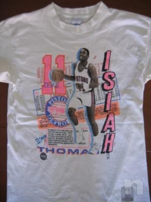 "T-Shirt Basket NBA Vintage ""Isiah Thomas"" DETROIT PISTONS - L foto-10044"