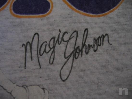 "T-Shirt Basket NBA Vintage ""Magic Johnson"" L.A. LAKERS - S foto-18335"