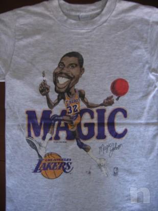 "T-Shirt Basket NBA Vintage ""Magic Johnson"" L.A. LAKERS - S foto-10045"