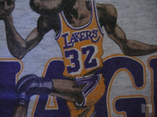 "T-Shirt Basket NBA Vintage ""Magic Johnson"" L.A. LAKERS - S foto-18334"