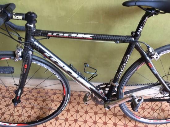 Bicicletta corsa tg S look 565 carbonio foto-10140