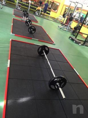 Pedana in gomma weightlifting mattonella profilo foto-20318