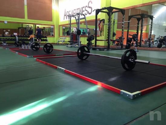 Pedana in gomma weightlifting mattonella profilo foto-10971