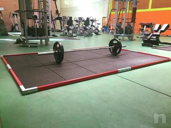 Pedana in gomma weightlifting mattonella profilo foto-20317