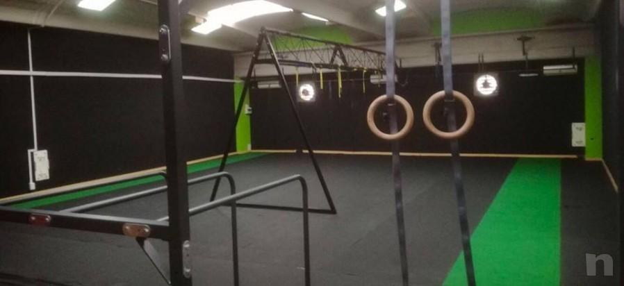 Moquette sintetica turf fitness allenamento slitta foto-20323
