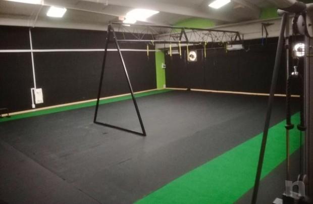 Moquette sintetica turf fitness allenamento slitta foto-20322