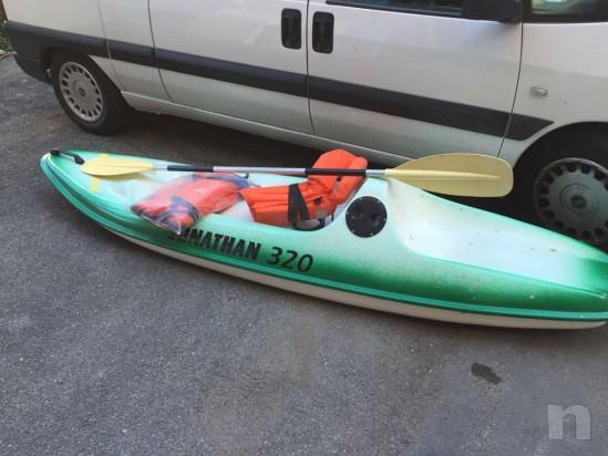 Canoa biposto vetroresina con porta oggetti.. foto-21202