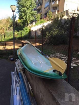 Canoa biposto vetroresina con porta oggetti.. foto-21200