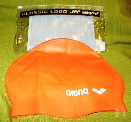 Cuffia da nuoto arancione in silicone taglia M foto-11574