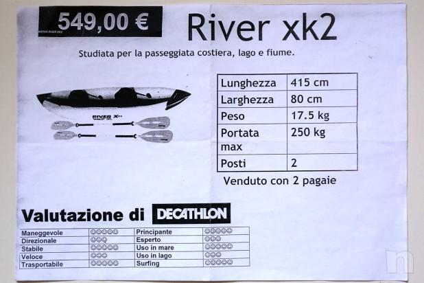 CANOA SEVYLOR RIVER XK2 - CANOA KAYAK CONDIZIONI PERFETTE - COMPLETA  foto-21500
