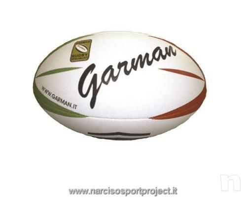 Pallone da rugby Italy, Garman, colore verde, rosso e bianco foto-11797