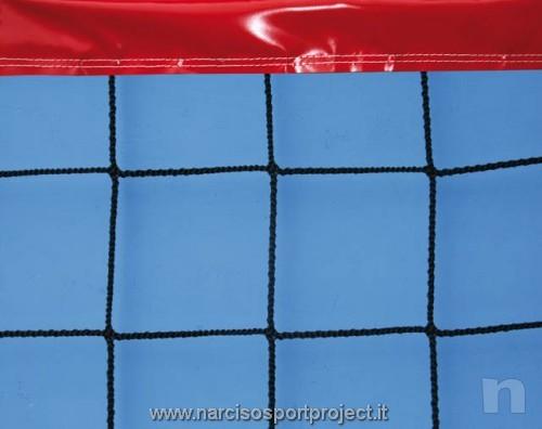 Rete da beach-volley con nastro colarato, cavo di trazione in acciaio, sport foto-21910