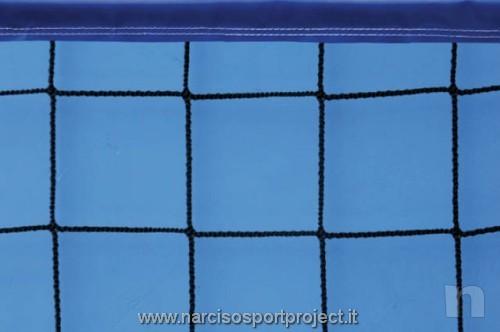 Rete da beach-volley con nastro colarato, cavo di trazione in acciaio, sport foto-21911