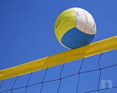 Rete da beach-volley con nastro colarato, cavo di trazione in acciaio, sport foto-11809