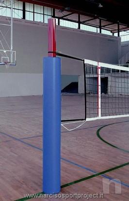 Protezione imbottita per palo impianto pallavolo e beach volley, coppia, 2 pezzi foto-11812