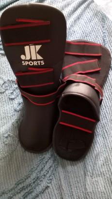 Paratibia con parapiede integrato nero Jk-sport foto-11946