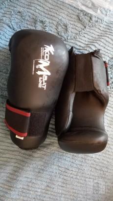 guantoni da Kick boxing nero della Kombat line foto-11951