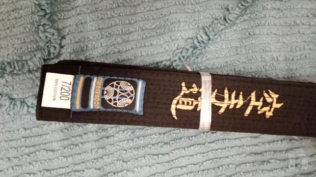 Cintura karate nera cotone foto-22186