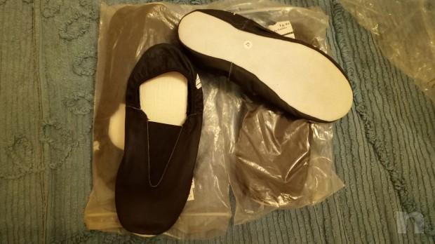 scarpe basse per ballo e palestra in pelle di bufalo foto-11965