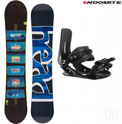 Set tavola snowboard head 153 156 162 + attacchi noomite rage foto-12295