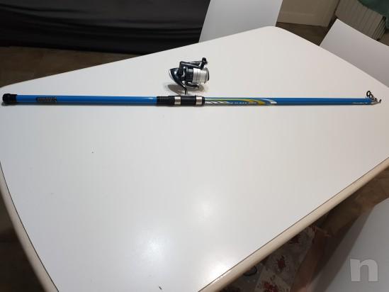 Canna da pesca 3.50m con mulinello e accessori  foto-12499