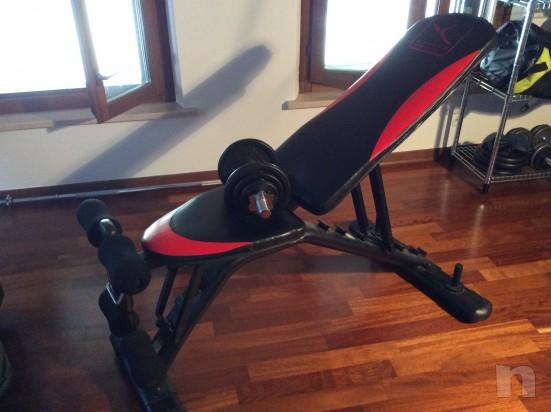 Panca reclinabile piú pesi foto-12632