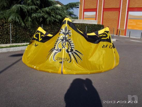 KITE COMPLETO ALA + BARRA COMPLETA DI CAVI + SACCA ZAINO foto-23741