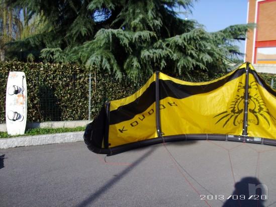 KITE COMPLETO ALA + BARRA COMPLETA DI CAVI + SACCA ZAINO foto-23743