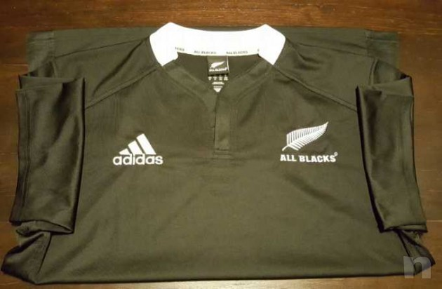 Maglia Adidas All Blacks Nuova Zelanda Rugby Originale foto-13366