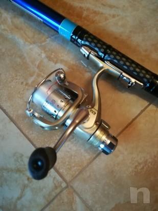 Canna più mulinello per pesca bolognese 6 m.  foto-25136