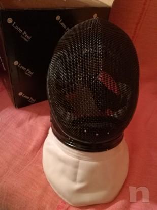 Maschera Spada Leon Paul X-Change usata, chiusura velcro nuova foto-13854