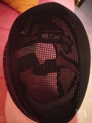 Maschera Spada Leon Paul X-Change usata, chiusura velcro nuova foto-25923