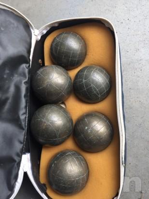 6 Bocce in bronzo complete di borsa tecnica foto-14115