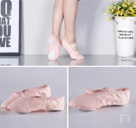 Mezza punta tela scarpette danza classica mezzapunta rosa foto-14283