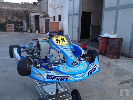 go  kart 125 telaio top kart 2014 motore tm completo di accessori foto-14560