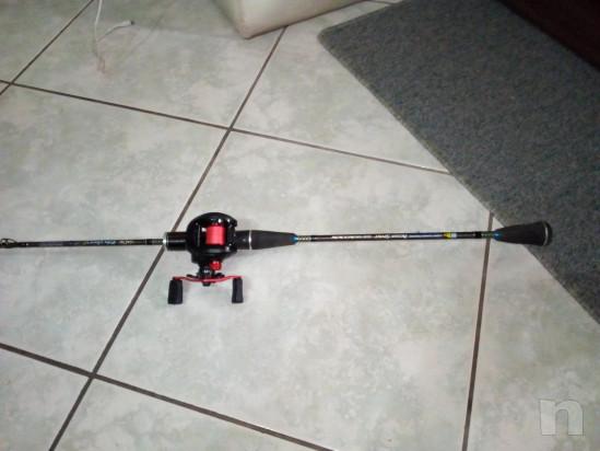 Canna da pesca slow pitc con mulinello foto-27699