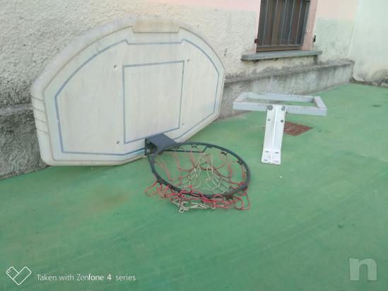 Canestro da basket con distanziatore a muro foto-28510