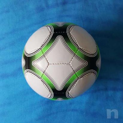 Pallone in cuoio - Biancoverde - Nuovo foto-15443