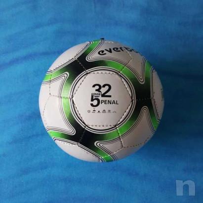 Pallone in cuoio - Biancoverde - Nuovo foto-29209