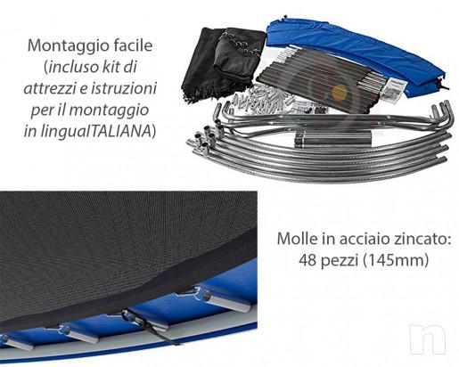 Trampolino tappeto elastico esterno da giardino Jumping Diametro 245cm Nuovo foto-29799