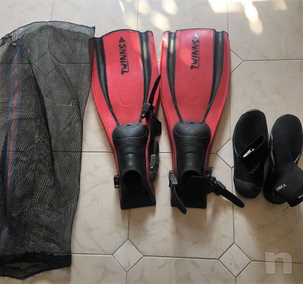Pinne Snorkeling Immersioni Sporasub con corredo foto-15952