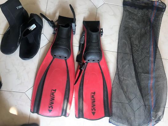 Pinne Snorkeling Immersioni Sporasub con corredo foto-30336
