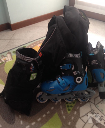 roller misura 32-34, set 3 protezioni, zaino per trasporto  foto-15958