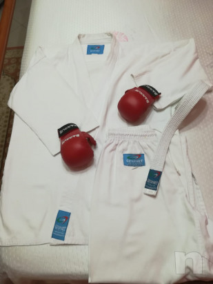 Kimono  guantoni in pelle da combattimento nuovi ancora con la busta foto-16117