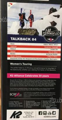 Sci alpinismo nuovi k2 talkback CM 153 foto-31227