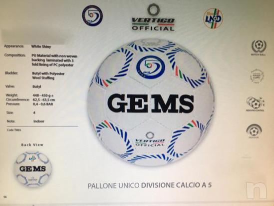 Pallone unico Futsal Divisione calcio a 5 Gems NUOVO foto-16435